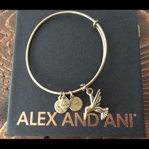 Alex and Ani Hummingbird Charm Bracelet